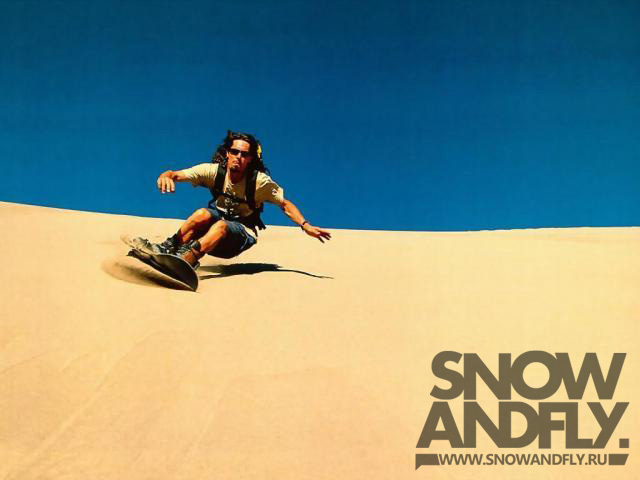 snow sand