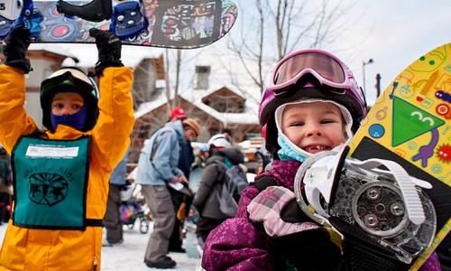 Сноуборд и дети